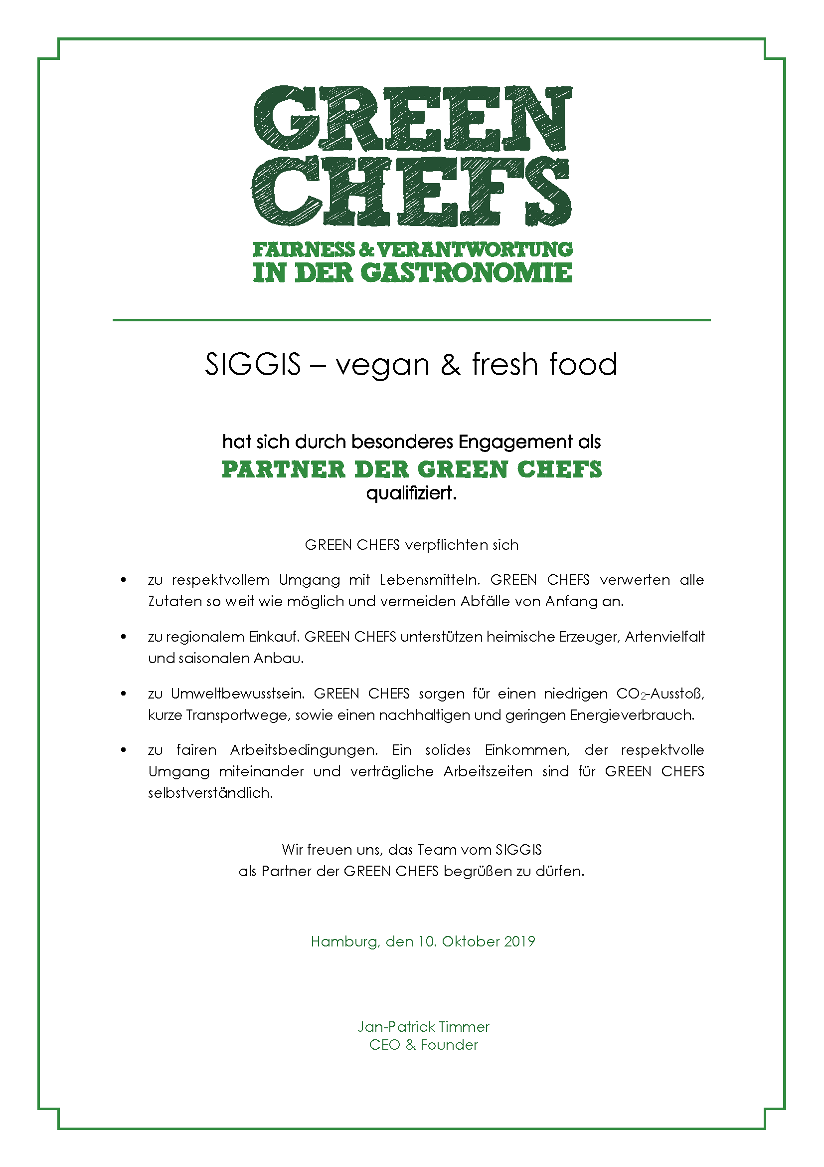 GREEN_CHEFS_Urkunde Siggis